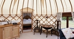 Lattice interior The Yurt at Harptree Court in Bristol