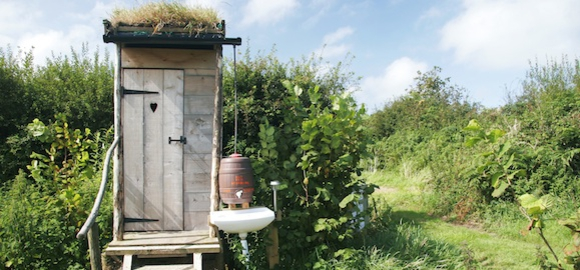 Compost Toilet, Hobbit House, Roundhouse, Plan it Earth, Cornwall