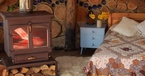 Woodburner, Hobbit House, Roundhouse, Plan it Earth, Cornwall