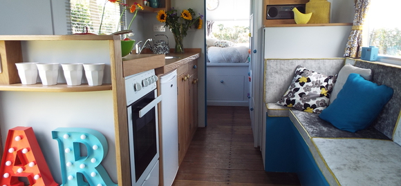Awesome Longney Gloucestershire The Warwick Knight A Restored 1950s Caravan