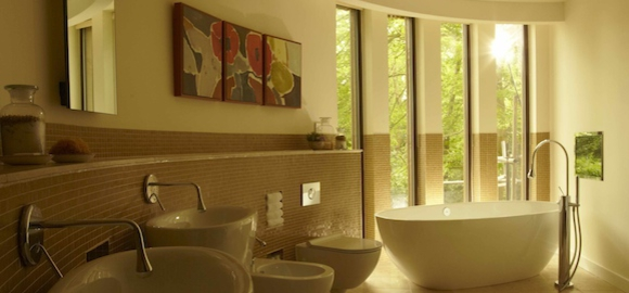 Chewton glen treehouse studio suite hampshire canopy stars - Tree house bathroom ...