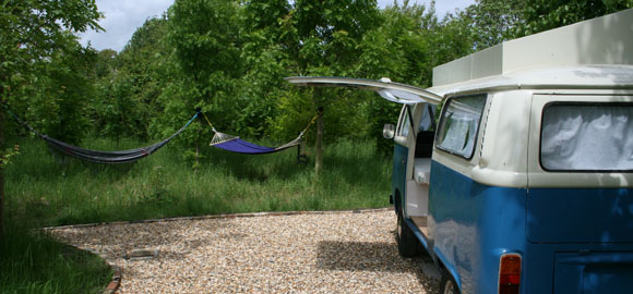 camper and hammock 2, Coppice Woodland, Guilden Gate