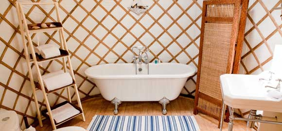 1000 images about yurt on pinterest yurts yurt living for Yurt bathroom designs