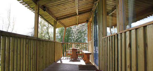 veranda at Damson Cabin