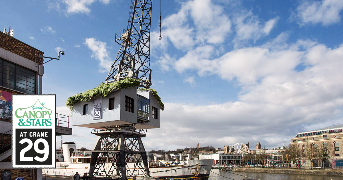 the treehouse in a crane on bristol harbourside canopy. Black Bedroom Furniture Sets. Home Design Ideas