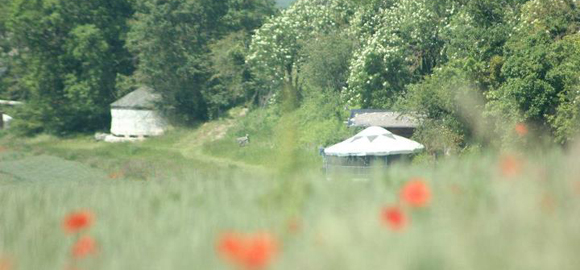 A&Ds Poppys and Yurts  at Chez Devalon, France