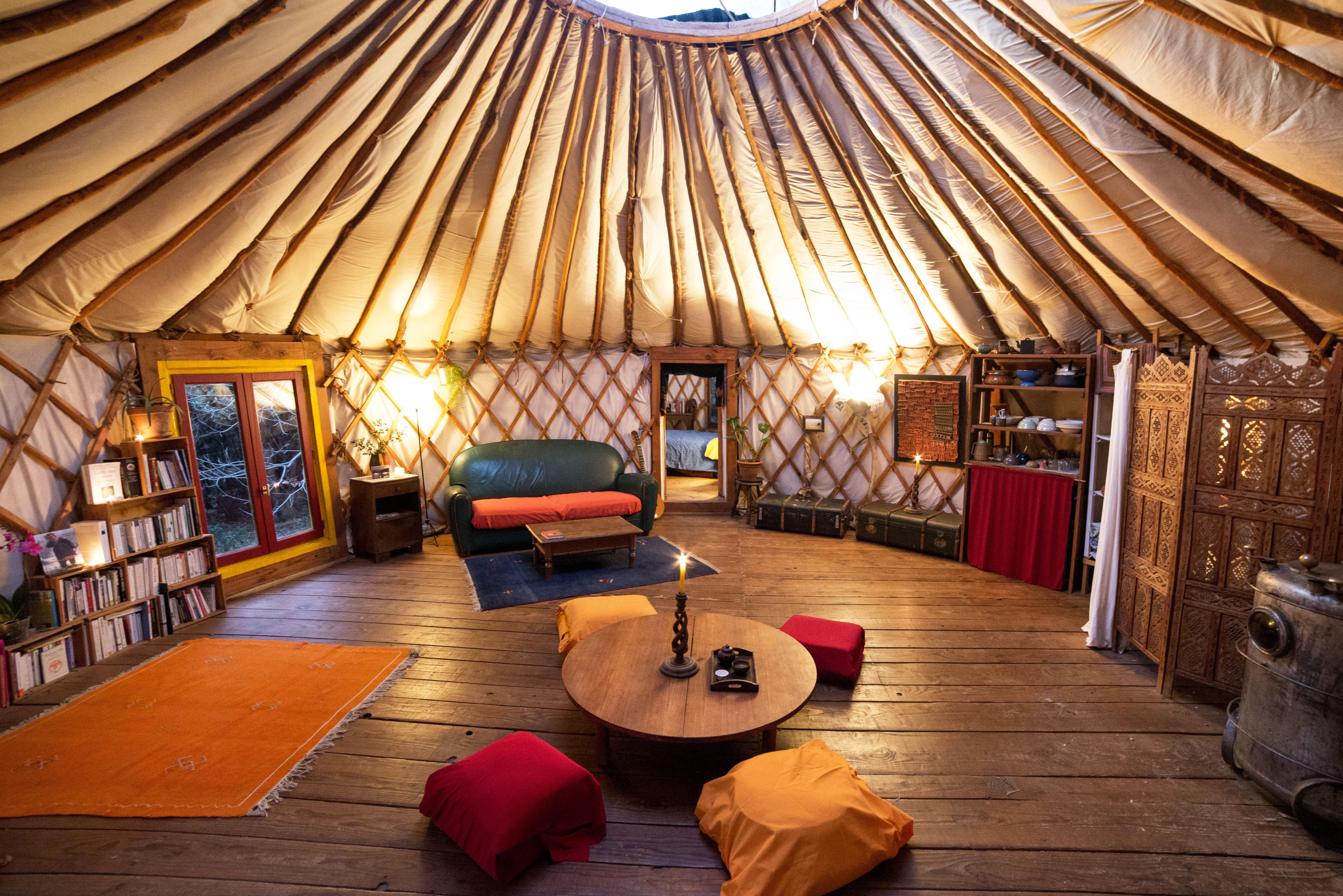La Source Yurt In H 233 Rault Canopy Amp Stars