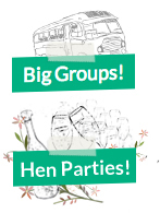 big groups and hens
